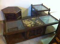 Solid Wood Coffee Table and End Tables Set
