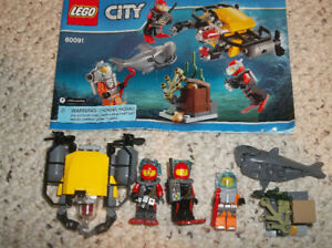 Lego City 60091 Deep Sea Starter Set - 100% complete with manual