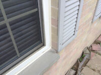 Door and window install and capping and chalking,sill repair