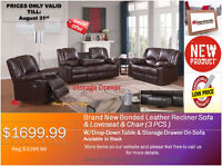 ◆NEW PRODUCT PROMOTION-3 PCS BONDED LEATHER RECLINER SET!