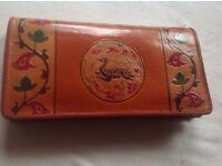 Small leather ladies bag indian indian design £4