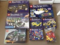 8 lego technic sets boxed