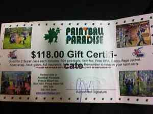 Paintball paradise gift certificate