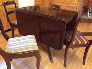 Duncan & Phyfe Table and Chair Set