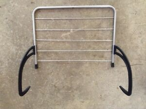 Trailer camper or radiator window clothes line dryer