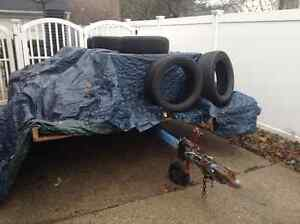 Flat Bed Trailer - $50