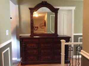 Colonial dresser with mirror