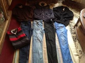 Mens clothes used size: 32/for work 8 items £8