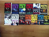 Books, 13 in total, martina cole