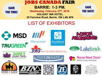 FREE: Barrie Job Fair – February 27th, 2019