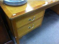 1970s mirrored kneehole dresser