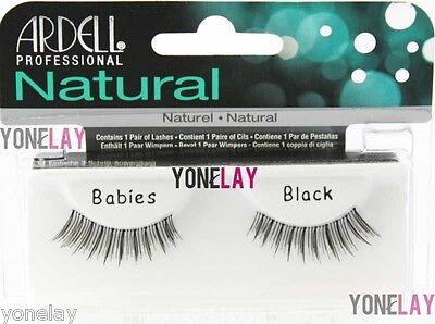 ARDELL Natural Babies Black False Eyelashes Fake Eye Lashes Invisibands Fashion