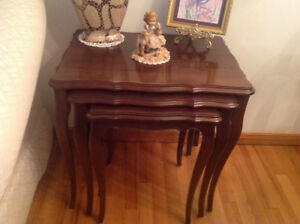 WANTED:  Mahogany Nesting Tables
