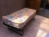 Foldable single bed and mattress