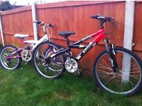 Child's mountain bikes spares or repairs £10 for both