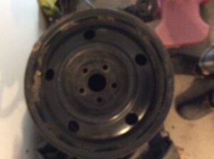For sale 4 steel rims 15 inch 5x100