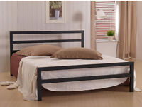 **FREE DELIVERY** DOUBLE/SMALL DOUBLE CITY METAL BED FRAME WITH CHOICE OF ORTHOPEDIC MATTRESSES