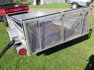 Remorque en acier galvanisé pour VTT ou motoneige