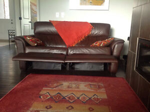 House Contents For Sale - recliner leather sofa and chair