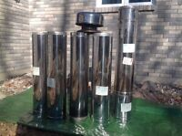 """8"""" stainless chimney pipe"""