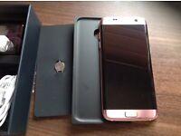 Samsung Galaxy edge S7 pink gold new