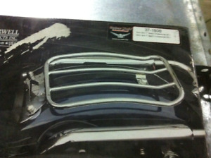 solo rack  pour harley  flhx flhr softail , heritage , nighster,