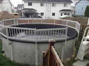 18 ft above ground pool  - water heather and salt system