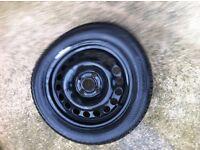 Spare wheel for VW Golf Mark 3 or similar vehicle