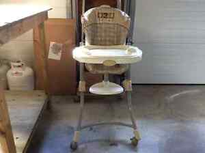 High chair and Graco playpen