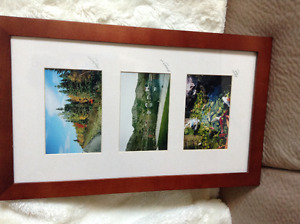 Three pictures in frame. Locally done