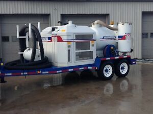 Vacmasters 1000 Hydrovac Excavator Trailer Mounted