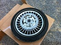 Harley touring front wheel rim and tire