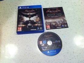 Playstation 4 game batman arkham knight & headset ps4