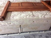Solid wood maple double headboard FREE to Collect