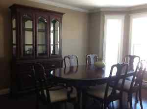 Solid cherry wood dinning room set with hutch St. John's Newfoundland image 1