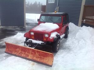 1995 Jeep TJ with Plow