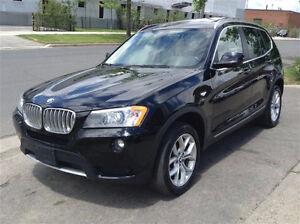 2013 BMW X3 35i SUV, Red Brown Leather, BMW Warranty to 2018