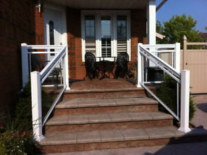 Aluminum and Glass Railings Sale Now
