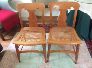 19th Century Curly Maple   Chairs in Lewiston, NY
