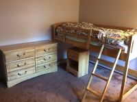 Solid Maple Twin Bedroom Set