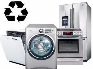 Récupération électroménager a domicile GRATUIT,  450-209-7328
