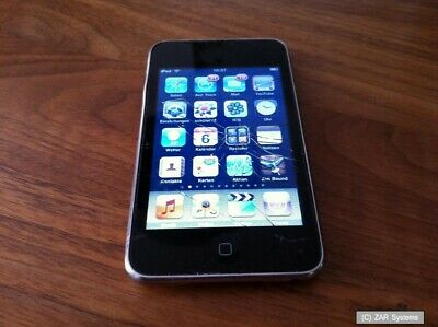 32GB Apple iPod Touch 2G MP3-Player MB533FD/A WiFi Schwarz, Displaybruch, LESEN Ipod Touch 2g