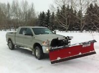 Snow plow truck for hire