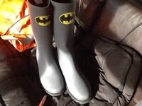 MENS BATMAN WELLIES NEW 15£ SIZE 9