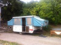 Tent trailer for sale.