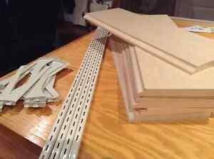 Imitation pine color melamine wall shelves/ tablettes pour mur