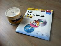 Spindle of cd / dvd blanks and blank labels