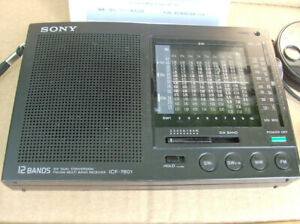Like New Sony ICF 7601 Shortwave Radio +Ext Antenna + ac Adapter