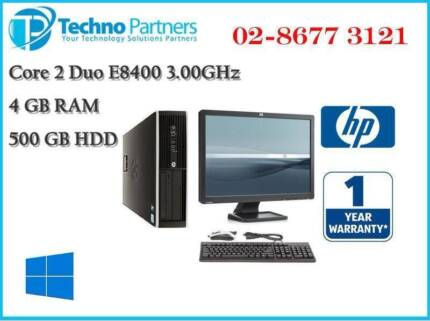 Computer Package HP Elite 8000 Core 2 Duo 4G 500G Win10 22 LCD
