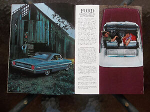 1964 Ford Galaxie 500 & XL dealer showroom catalog London Ontario image 3